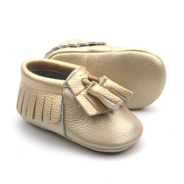 Moccasins μαλακά παπούτσια μωρών δέρματος Casual παπούτσι