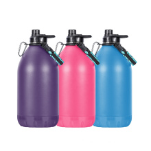 Personal Logo Water Bottle Powder Coated One Gallon Water Bottle With Easy Carry Rope