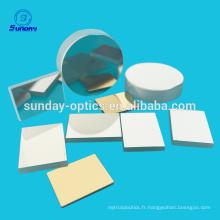 Miroir optique revêtu d'or argenté plano sphérique asphérique parabolique