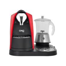 Kapsel Kaffeemaschine mit Klarglas-Milchschäumer