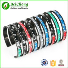 Pulseira Bracelete de velocímetro de aço inoxidável