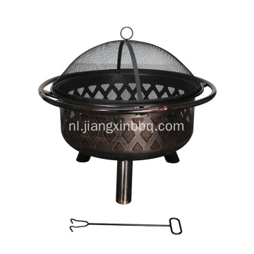 Garden Treasures Black Steel Wood Burning Fire Pit