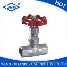 Globe Valve avec l'extrémité de fil 200wog pour l'huile d'eau