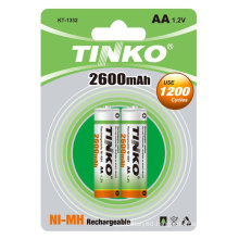 NI-MH rechargeable battery size AA 2600MAH