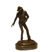 Music Deco Brass Statue Clássico Michael Carving Escultura de Bronze Tpy-900