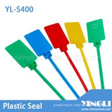 Selos de segurança de etiqueta de plástico com grande área de marcação (YL-S400)