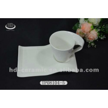 Keramik-Snack-Platte und Tasse