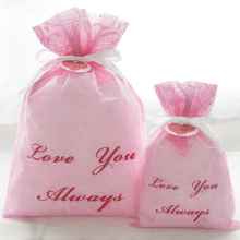 Pink Embossed Valentine's Day Gift Bags Women