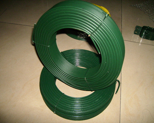 high quality green PVC coated steel wire