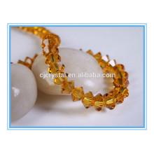 Soucoupe volante perles de verre perles de cristal brins
