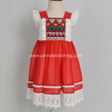 baby girl christmas dress yarn dyed fabric dress