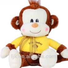 Kundengebundener Entwurfsgelb-Affeplüschspielzeug