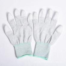 Gants en nylon / polyester Revêtement en PU sur le palmier et les doigts