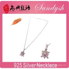 Оптовые серебряные ювелирные изделия Искрение CZ камень подвески Кулон 925 Серебряное ожерелье