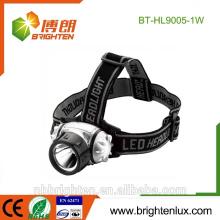 Vente en gros de gros multifonctions 3 mode ABS plastique lumineux 1 watt led lampe frontale