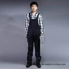 Zip Front 65% Polyester 35%Cotton Long Sleeve Safety Bip and Brace Overall (BLY4001)