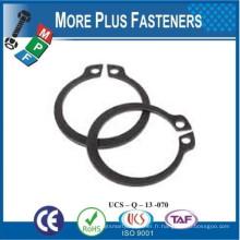 Fabriqué à Taiwan en acier inoxydable Circulateurs externes métriques Inverted Circlip externe Basic External Circlip Metric