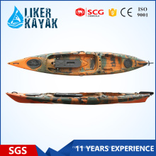 Power Fishing Kayak Wholesale 4.3m Length Single Seat with Seat&Trolley 2in1 Add Motor Available
