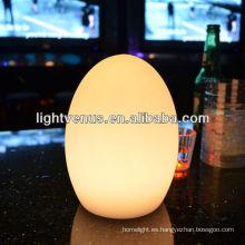 Decorativo multicolor cambiando la lámpara de tabla recargable
