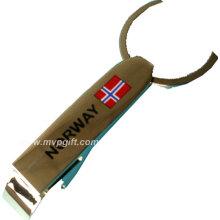 Abridor de botellas de metal con el logotipo del cliente (m-BO01)
