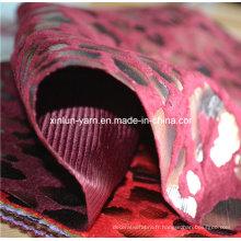 Mousseline de soie d'impression de troupeau / flocage de tissu de Georgette / tissu de robe d'impression de flocage