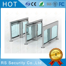 Safety Swing Turnstile Gate In Office Lobby