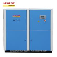 Compresseur d'air silencieux à vis refroidi par air stationnaire