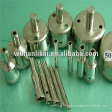 wet drilling electroplated diamond drill bit for glass stone