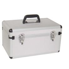 Aluminium Flight Case Small Box Silver Camera Tool Carry Travel Case