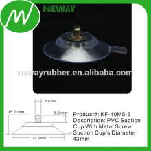 Fácil de quitar el diseño de la taza de succión de PVC de 43 mm con tornillo