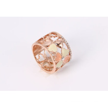 Rose Gold Fashion Jewelry Ring with Epoxy