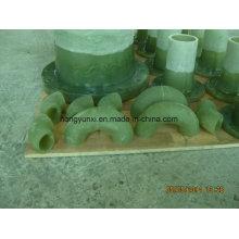 Cotovelo plástico reforçado da fibra de vidro 45deg ou 90deg (FRP)