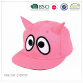 Children Cotton Flat Bill Cap with Horns