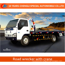 Flatbed Road Wrecker with Crane