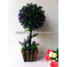 Artificial bonsai home and outside decoration purple color lawender boxwood topiary leaf tree