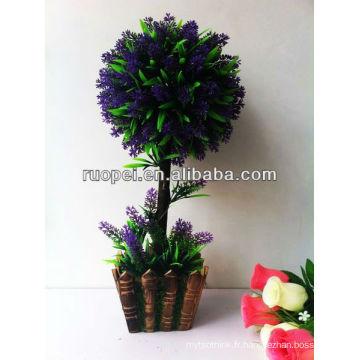 Bonsaï artificiel maison et extérieur décoration violet couleur lawender buis topiaire feuille arbre