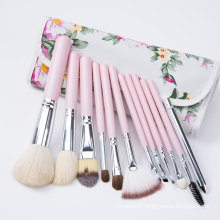 Personalized Cosmetic Brush with 12 Piece Makeup Brush Set