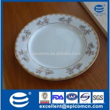 Factory-produced porcelain golden dinner plates