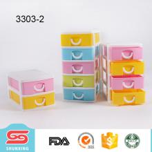 novo design colorido top qualidade plástico pp mini caixa de organizador de maquiagem com gaveta