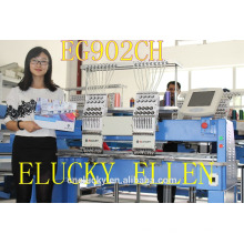 High Quality 2 heads Embroidery Machine for Cap/T-Shirt/Flat Embroidery
