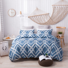UK king size printed comforter duvet cover set