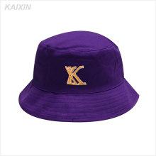изготовленные на заказ выдвиженческие короткие брим фиолетовый 5 панель вышивка высокое качество ведро шляпа