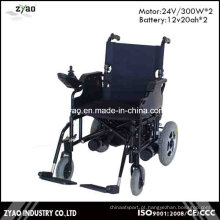 Cadeira de rodas elétrica de poder de dobramento para pessoas com deficiência