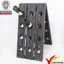 Wholesale Handmade Rustic Vintage Antique Wooden Wine Rack with 24 Bottles