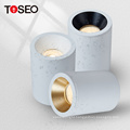 IP65 white pure aluminium surface mounted waterproof bathroom downlight