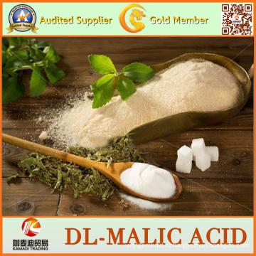 Белого или почти белого цвета 99% DL-Яблочнокислая кислота для еды