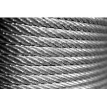 Alambre de acero Rop, cable de alambre de acero / alambre recubierto de PVC Rop