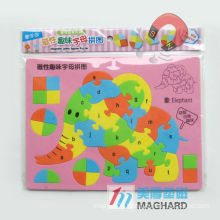 EVA magnetic letter puzzle animal magnetic toy