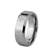 Лазер Вытравил 8мм Масонский символ твердого карбида вольфрама обручальное кольцо обручальное кольцо