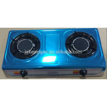 stainless steel double burner infra red table gas stove, gas cooker